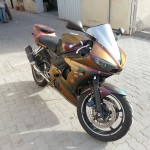 Gold Orange Red 4739OR Colorshift Pearl  Motorcycle