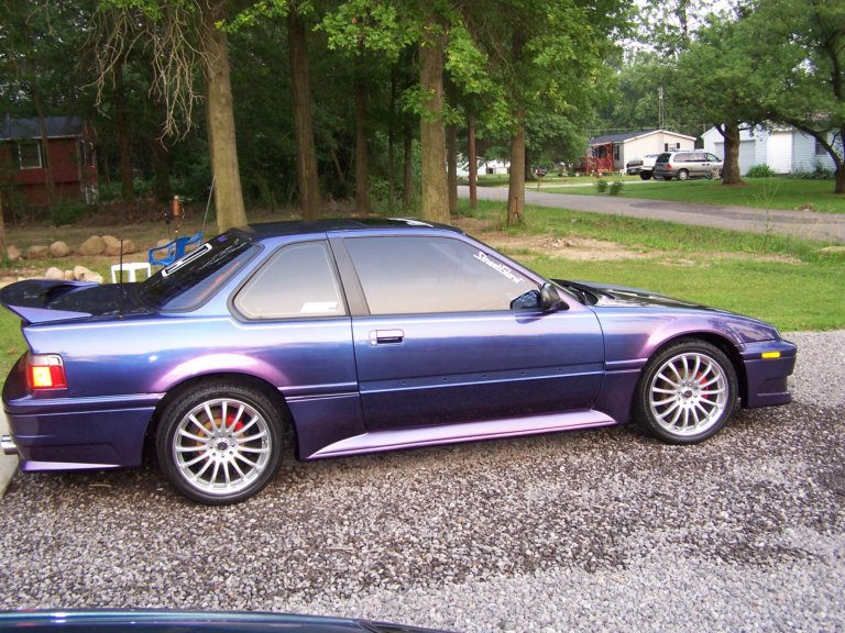 This Honda was painted using our Blue Purple flip paint Colorshift Pearl  pigment.