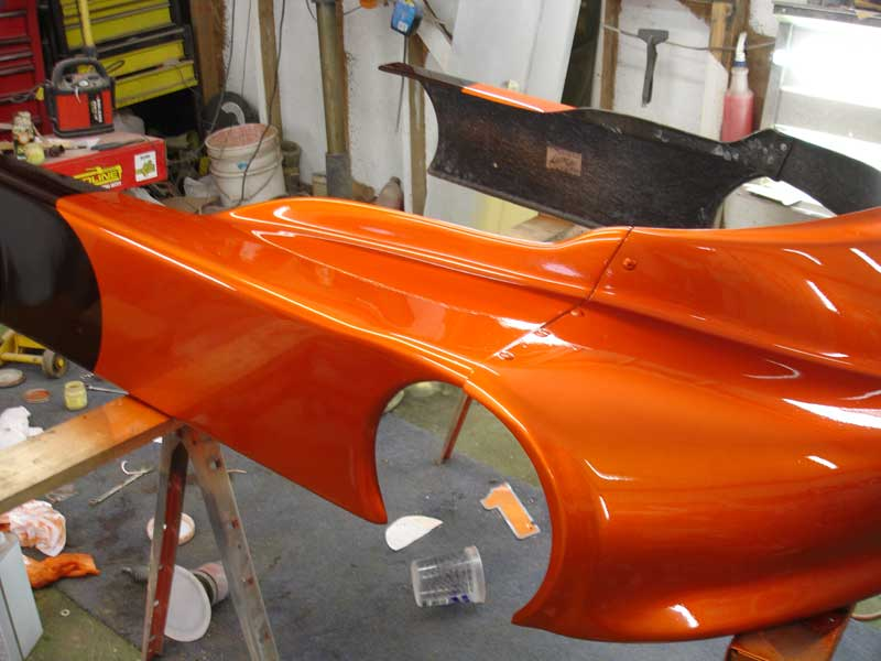 Copperhead Go Cart Racer with base coat only.
