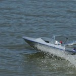 Sky Blue Candy Model Jet Boat