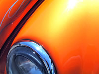 This 25 gram Bright Orange Candy Pearl powder is a great pigment for creating your very own Orange pearl tinted clears in both custom paint or powder-coating applications. It is guaranteed to mix well with any clear paints or tinted candy paints, and has a temperature threshold of about 400 degrees fahrenheit. It is a very fine powder and will spray well through airbrushes, powder guns, and HVLP paint guns. It is very light, so it stays well mixed in paint without settling too fast in your gun, and can make great tinted clears for light to heavy effects (it's your choice). One 25 gram bag treats from 1 to 2 quarts of clear. Hint: Use under our Gold Ghost Pearl for an effect like Lamborghini Orange.