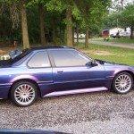 This Honda was painted using our Blue Purple flip paint Colorshift Pearl  pigment.