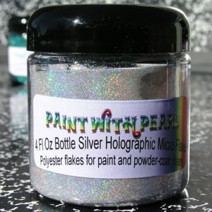 Silver Holographic Metal Flake - Prismatic Reflections