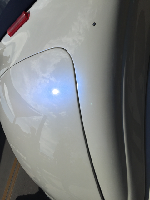 Blue Interference Pearl ® on trunk lid.