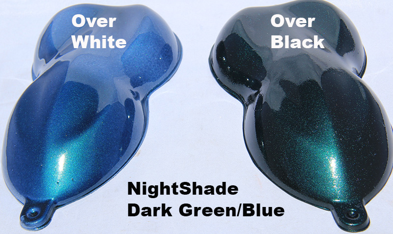 Green Blue Candy Paint Pearl Nightshade Paint Pearls