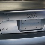 Pewter Titanium DIY Paint Colors being plasti dipped on an Audi