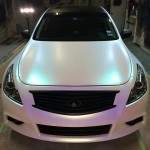 Ghost Colorshift Pearl  on White infinity. 4759RBP Red Blue Purple