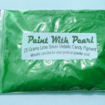 25 Gram Bag of Lime Green Candy Pearl