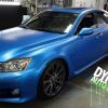 Driver View Sappire Blue DIY Paint Colors Audi vehicle dipped.