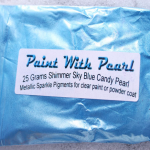 25 gram bag of Shimmer Sky Blue Candy