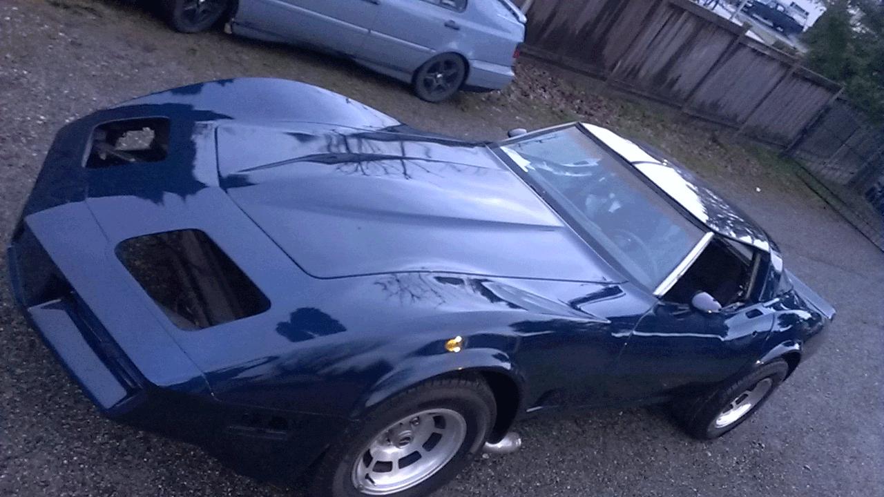 Electric Blue Corvette Looking Dark Paint Pearls