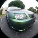 Jetta painted by Dr. Dipped With our Green Gold Indigo ColorShift Pearls