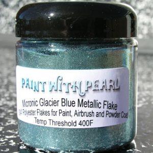 Jar of Glacier Blue Metallic Flake