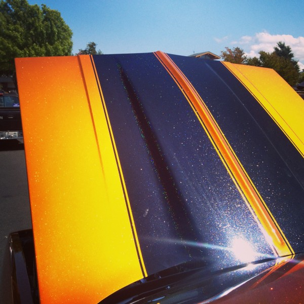Hot Rod painted with Gold Shimmer Ghost Pearl over Shimmert Orange Copper Candy Pearl.