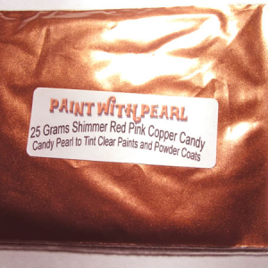 25 gram bag of Shimmer Red-Pink Candy Pearl