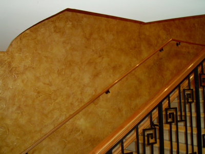 Bronze Copper DIY Paint Colors over tan base latex used in Faux Finish Glaze.