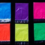Assortment of 25 Gram Bags of Neon Glow Paint Pigment