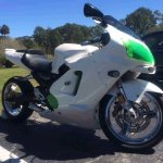 Shimmer Green Kawasaki at Daytona Bike week.