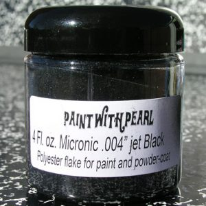 Jet Black Metal Flake - Solvent Resistant Custom Flakes