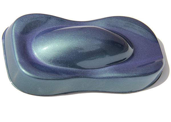 Green Purple Flip Paint ColorShift Pearls on Speed Shape.