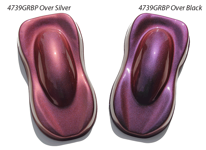 Gold Red Blue Purple Chameleon 4739GRBP over silver and black.