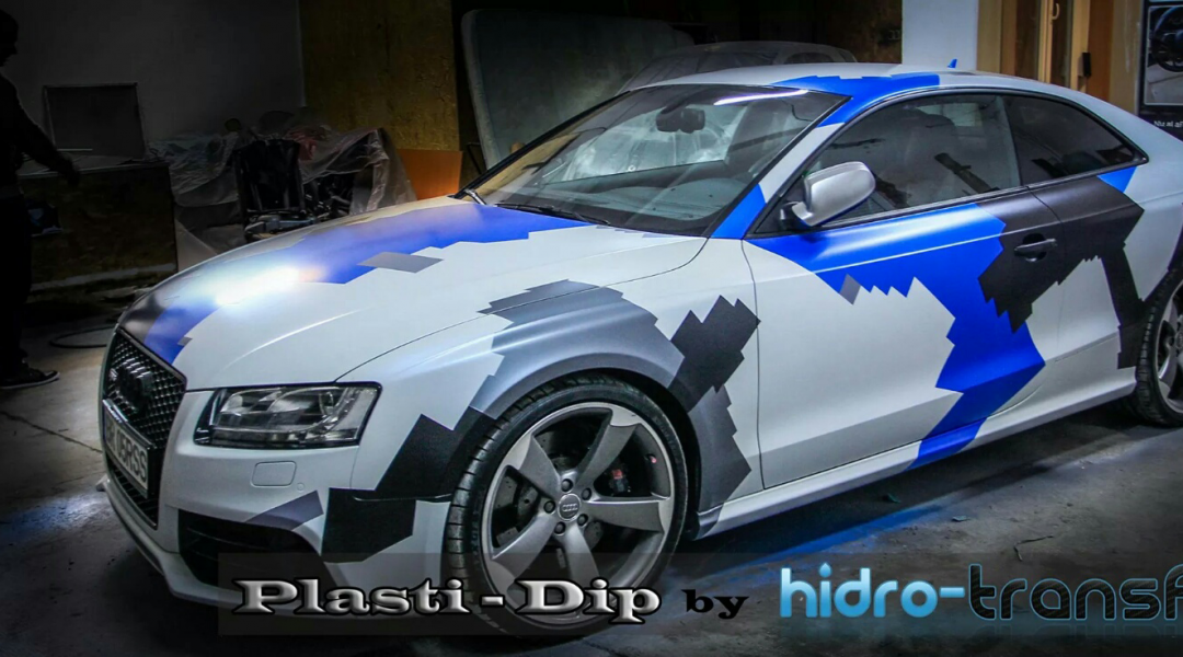 Audi Dipped in multi color with ghost pearl and DIY Paint Colors.