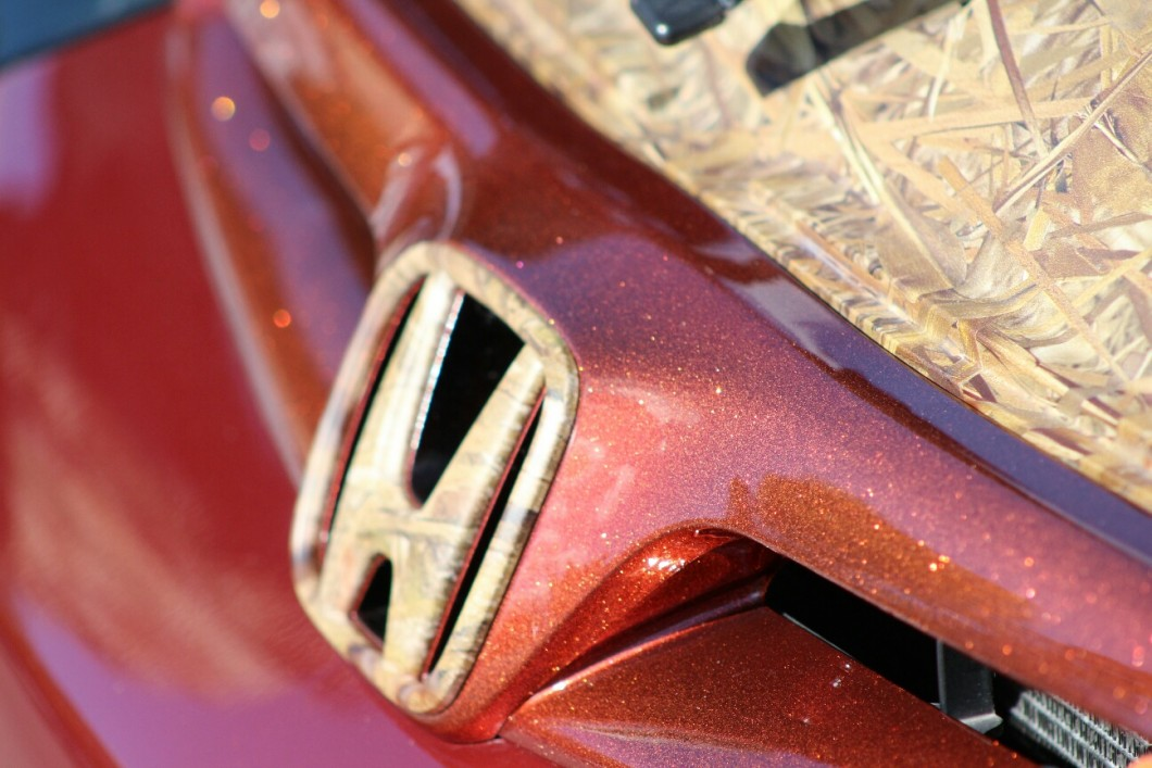 Orange Copper Metal Flake on a Honda hood