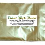 25 Gram Bag Lemon Lime Yellow Green Flip Paint ColorShift Pearls.
