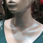 Blue Ghost Pearl on a Mannequin Head