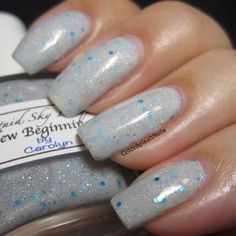 Custom made nail polish using our candy pigments and metal flakes