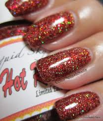 Custom made finger nail polish using our pigments and flakes