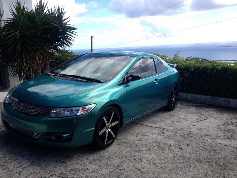 Blue green flip carribean gold honda civic paint with pearl for Gold honda civic