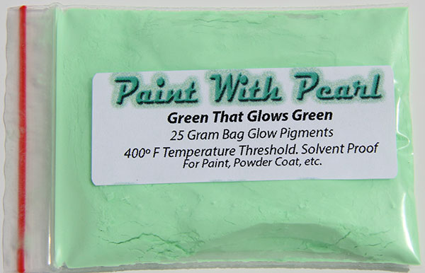 Green Glows Pigment For Paint And Other Coatings Lightbox