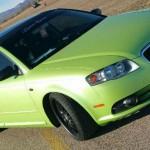 Yellow Green Flip Paint ColorShift Pearls custom painted matte finish.