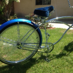 Royal Blue and Sapphire Blue Candy on Custom Painted Bicycle.