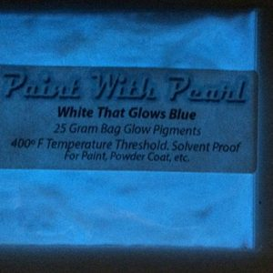 White to Blue Glow In The Dark Paint Pigments - Long Lasting