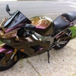 4739OV Gold Orange Purple Motorcycle