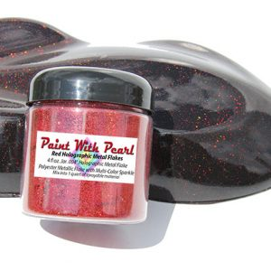 "Red Holographic Metal Flake in .004"" Size. One Jar can treat a whole car."