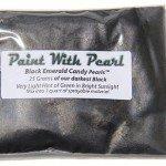 25 Gram Bag of our Darkest Black yet, Black Emerald DIY Paint Colors.