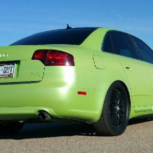 Lemon Lime Yellow Gold Flip Paint Colorshift Pearl  on Audi by Dynamic Auto Dip.